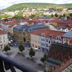 Blick vom Turm der Stadtkirche